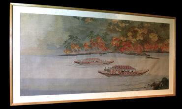 豪華客船 日光丸 を飾った綴織「嵐山三船祭」  二代川島甚兵衞のモノづくり