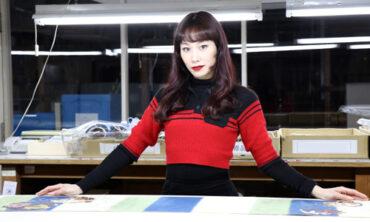 マドモアゼル・ユリアさんプロデュースの帯が織り上がりました
